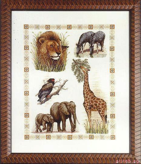 Животные Африки, картина