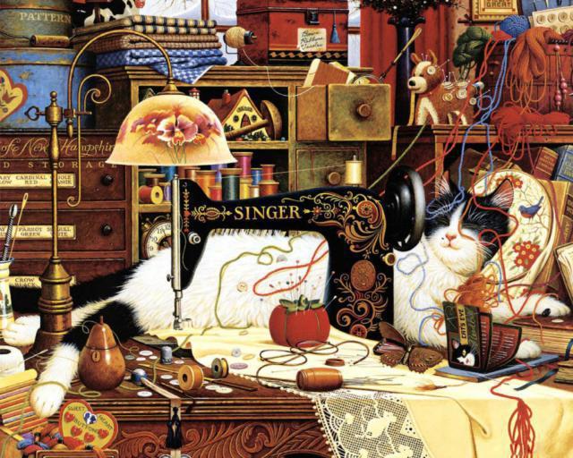 Кошка-рукодельница, оригинал