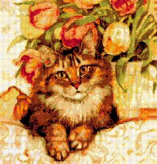 Кошка на софе, предпросмотр