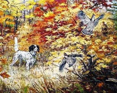 На охоте, охота, осень,