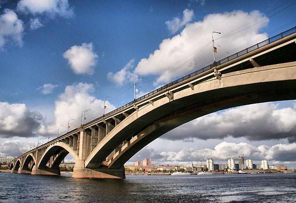 Мост через Енисей, оригинал