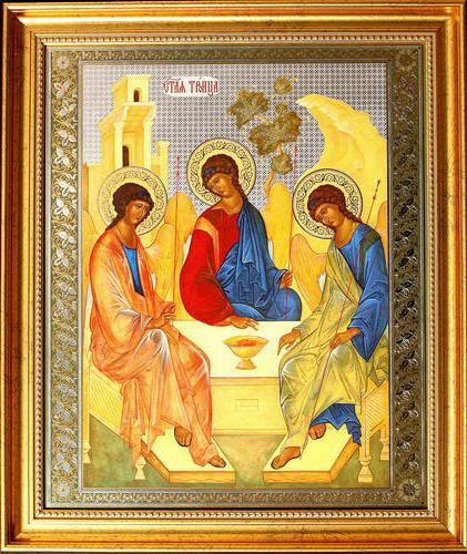 Троица, иконы