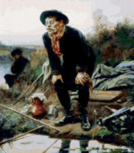 Картина - Рыбак, предпросмотр
