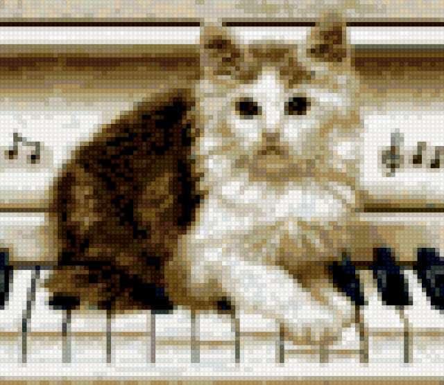 Кот на пианино, предпросмотр
