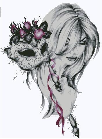 Женщина с маской, оригинал