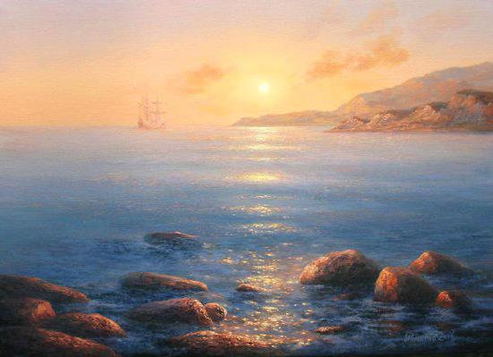 Морской пейзаж, оригинал