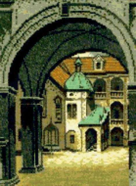 К схеме вышивки «Старый город»