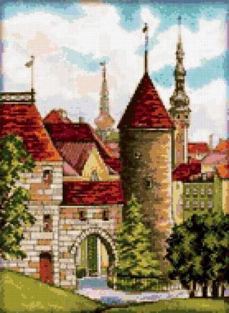 Старый Таллин, картинка, город