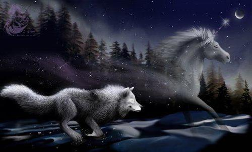 Бегущий волк, оригинал