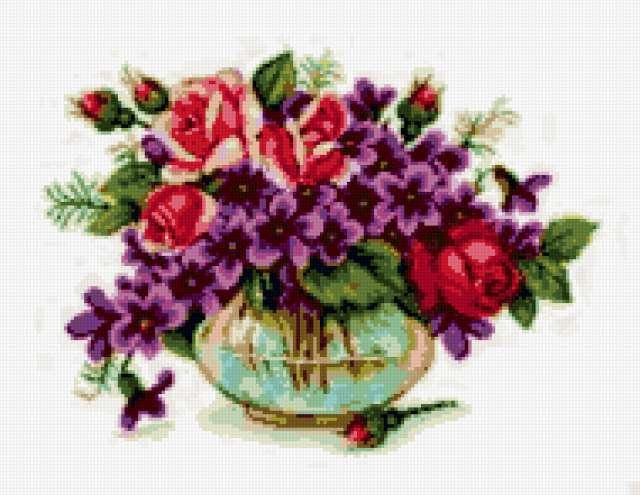 Розы и фиалки, предпросмотр