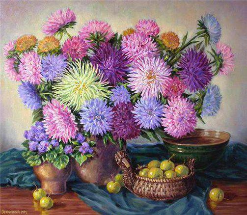 Астры 8, цветы