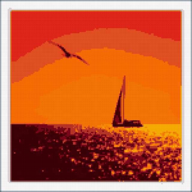 Кораблик, море, природа