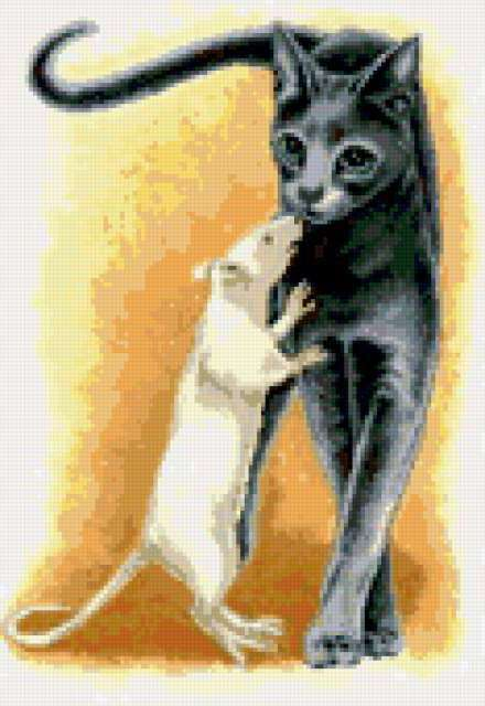 Кошка и крыса, кошка, крыса,