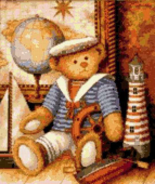 Мишка моряк, предпросмотр