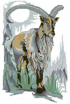 Оригинал - Схема вышивки «Козерог » - Схемы автора «margoritag ...