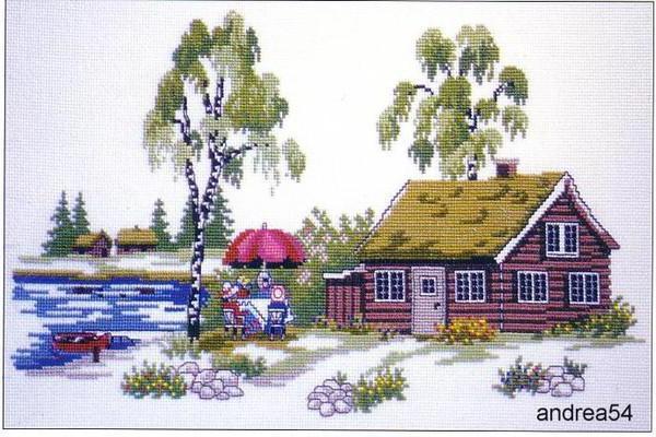 Лето в деревне, картина,