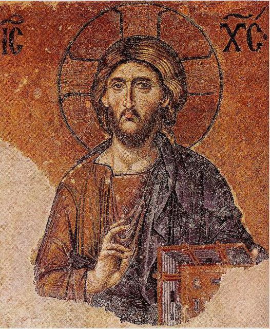 Иисус Христос визант. фреска,