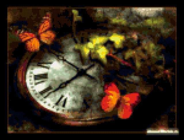 Часы и бабочки, предпросмотр