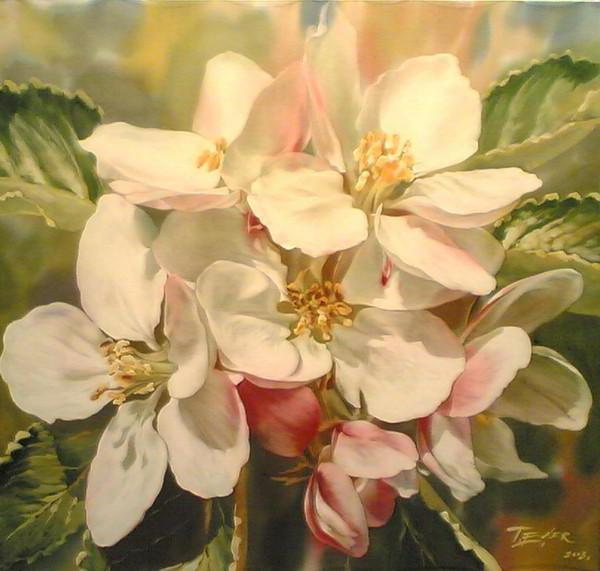 Яблоневый цвет, подушка
