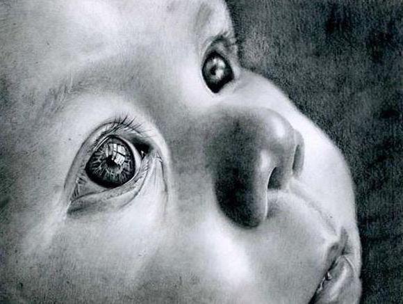 Взгляд ребенка, младенец