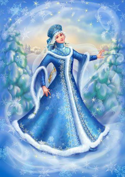 Девушка зима, оригинал