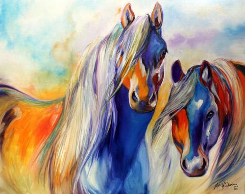 Пара лошадей,