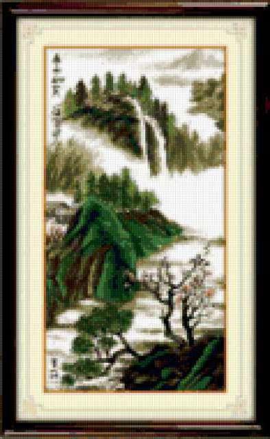 Китайский пейзаж, картина