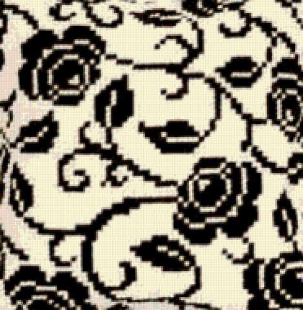 Черно-белый орнамент, подушка,