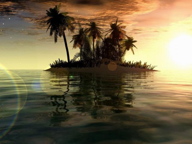 Тропический остров, пейзаж