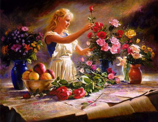 Составление букета, цветы