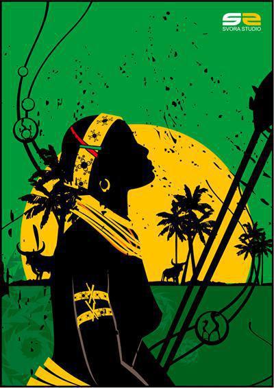 Африканка, девушка, африка