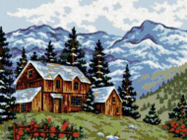 Дом в горах, предпросмотр