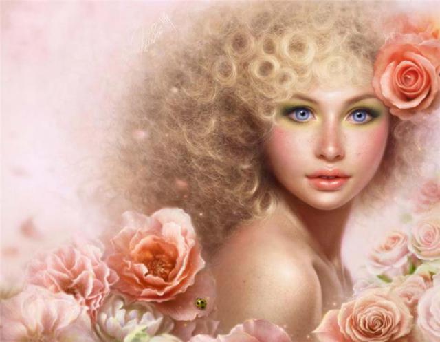 Девушка в розах, оригинал