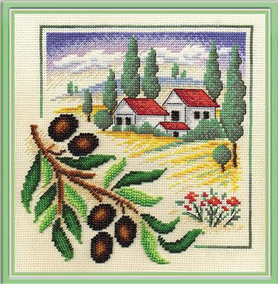 Оливки, пейзаж, картина