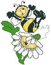 Весёлая пчёлка вышивка крестом