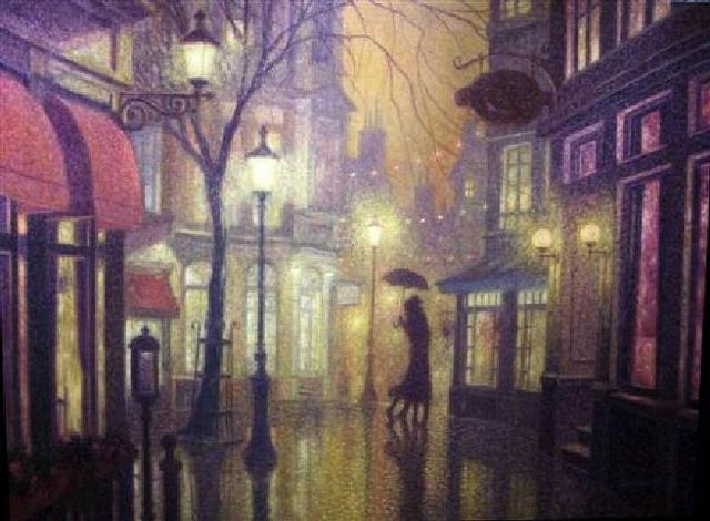 Дождливый вечер, оригинал