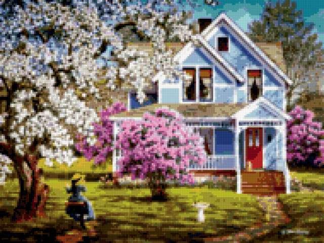 Весенний сад, предпросмотр