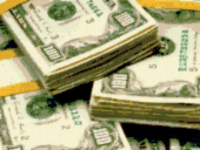 Доллар схема вышивки