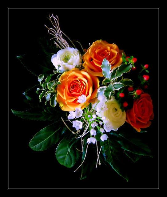 Розы на черной канве, оригинал