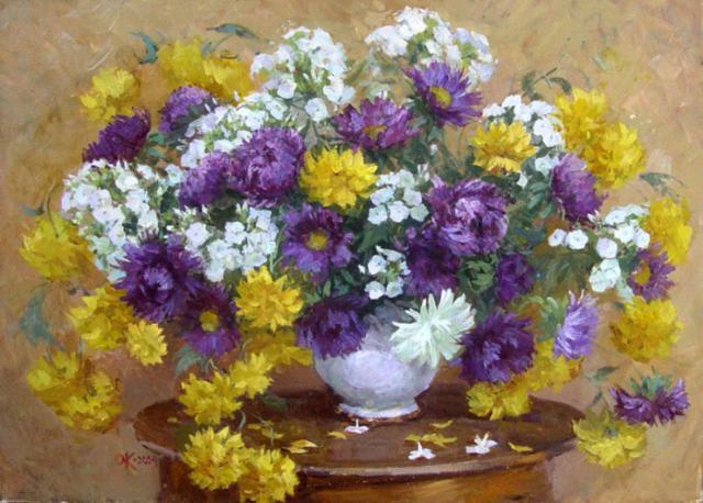 Оригинал схемы вышивки «Осенние цветы ...: www.xrest.ru/original/Осенние цветы-761649