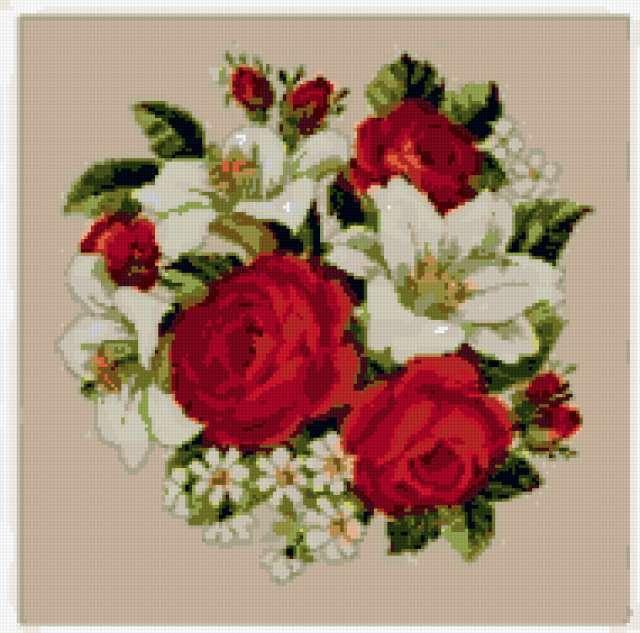 Розы и лилии, предпросмотр