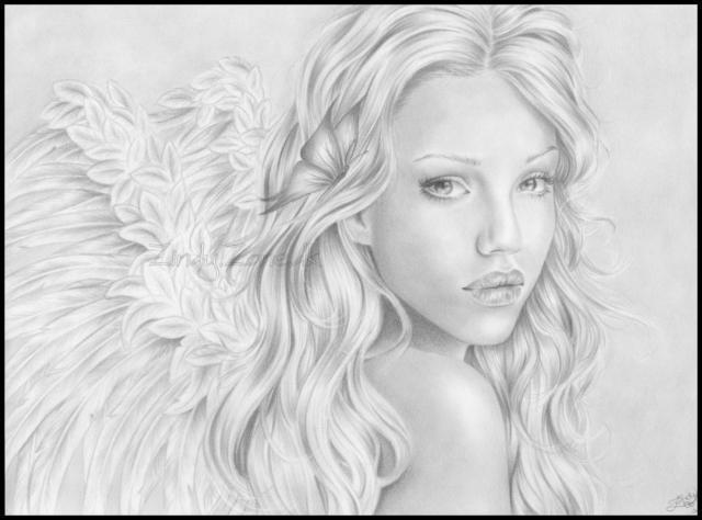 Рисунок ангел девушка