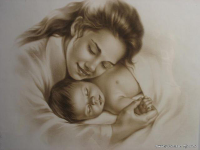 Мама и ребенок, оригинал