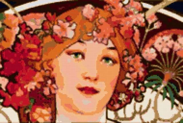 лицо цветы схема в