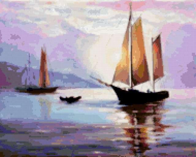 Рыбацкие лодки, предпросмотр