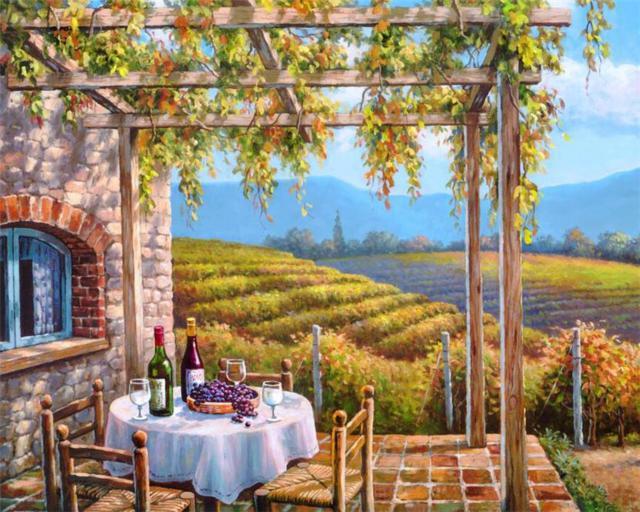 Виноградные сады, оригинал