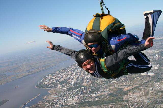 Прыжок с парашютом, оригинал