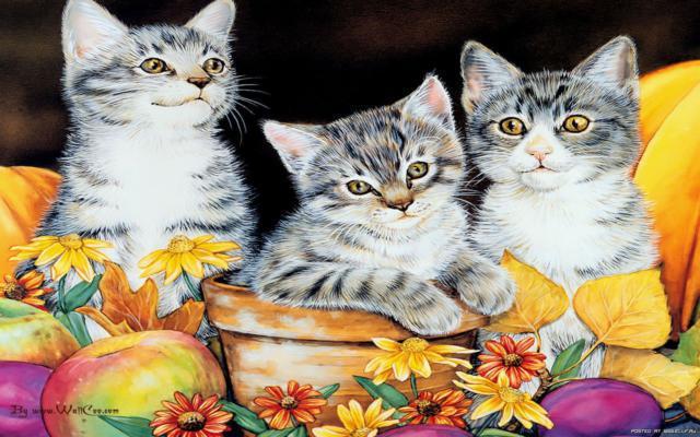 Три котенка, оригинал