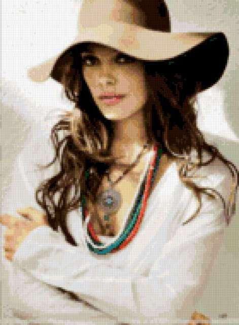 Девушка в шляпе , предпросмотр