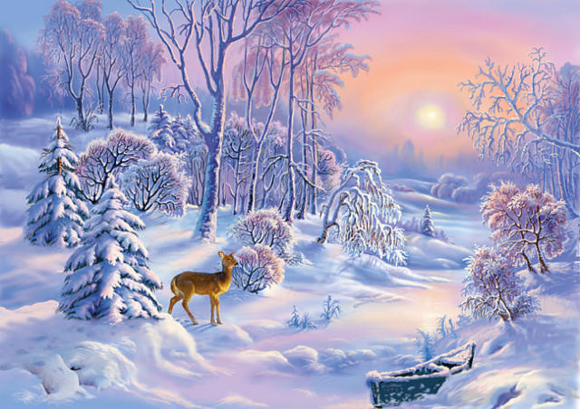 Зимний пейзаж, пейзаж